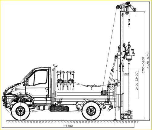 Автомобильная установка H25SI в рабочем положении